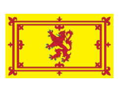 Royal banner of Scotland, frequently used by Scottish Social Clups